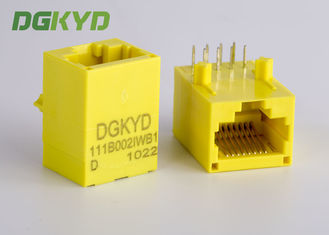 Color amarillo Rj45 sin blindaje Jack modular con el transformador, 100 base - T