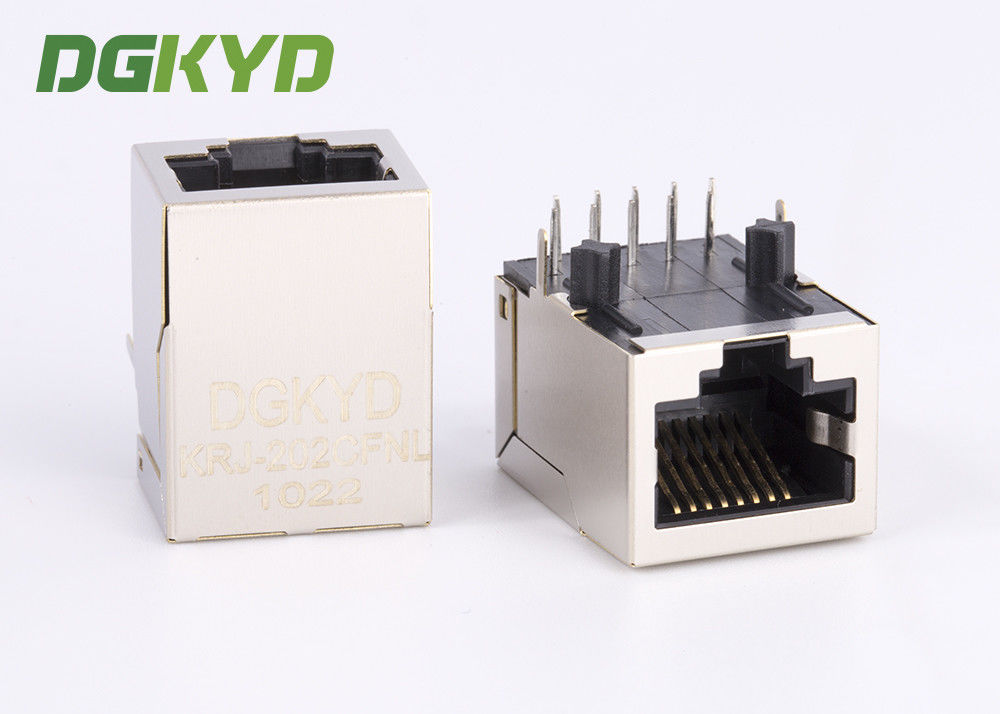 Network connector RJ45 Single Port Magnetic Jacks with 1000Mb Transformer