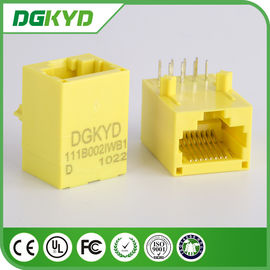 China Base amarilla del color 100 - TX Rj45 sin blindaje Jack modular DGKYD111B002IWB1D distribuidor