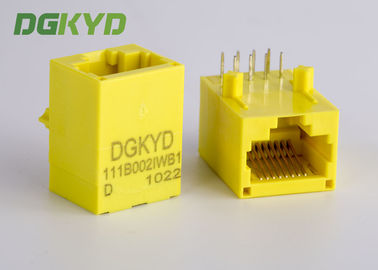 China Color amarillo Rj45 sin blindaje Jack modular con el transformador, 100 base - T distribuidor